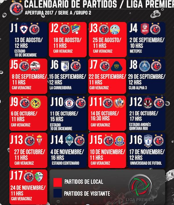 Calendario De Segunda Division De Futbol.Listo El Calendario De La Liga Premier Para Comentarse