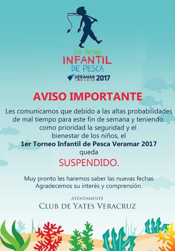 Poster Suspendido Torneo Infantil